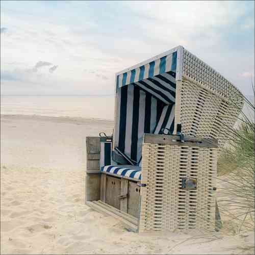 Glasbild Beach chair 50x50 cm